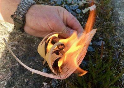 vuur maken berkenbast